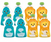 Squooshi Reusable Food Pouches - Small 8 Pack