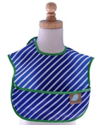 Toddler Bib Navy Stripe
