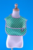 Toddler Bib Green Kelly Stripes