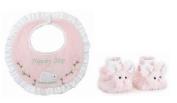 Bearington Bears Cottontail Bunny Rabbit Baby Bib and Booties Set