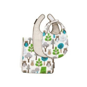 DwellStudio Owls Sky 2Bibs/Burp Set