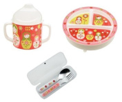 Sugarbooger Divided Plate, Sippy Cup, and Silverware Set-Matryoshka Doll