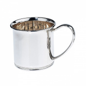 Lunt Sterling Beaded Edge Baby Cup, 180ml