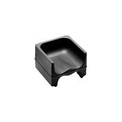 Cambro Black Dual Seat Booster Seat w/o Strap