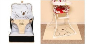 Pipsy Koala BUNDLE On the Go Booster Seat & Highchair Splash Mat 90 x 90 DISPATCHED FROM UK