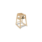 Central Specialties 27-1/2 H Deluxe Light Finish Hardwood High Chair