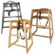 Stacking Mahogany High Chair