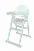 East Coast Folding Highchair - White