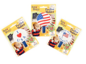 Baby Buddy American Baby Pacifier Holder, US Flag, I Love USA, God Bless America