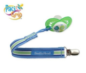 BooginHead PaciGrip Pacifier Holder Saucy Blue/White/Green Stripe