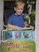 No Throw Baby Bottle and Sippy Cup Tether, Blue Dinosaurs