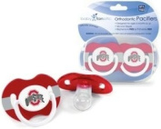 Ohio State Buckeyes Pacifier - 2 Pack. NCAA