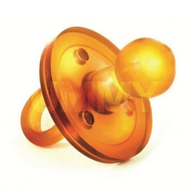 The UMMY: BPA-free 100% Natural Rubber Pacifier with Round Nipple, 6-12 months