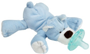 WubbaNub Infant Plush Toy Pacifier - Blue Bear