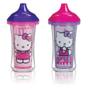 Munchkin Hello Kitty Click Lock 2 Count Insulated Sippy Cup, 270ml