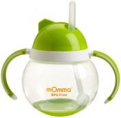 Momma Baby/Toddler Rocking Straw Cup With Dual Handle, 8.4 Oz/250 Ml