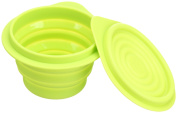 Silicone Small Foldable Storage Bowl with Cover