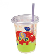 The First Years 3 Pack ABC Fun Take & Toss Straw Cup, Colours May Vary