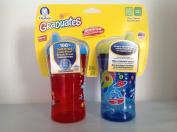 2 Gerber Graduates Advance Developmental Leak Proof Sippy Cup 12+ Mo Hard Spout Red/Blue Combo