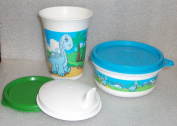 Kitchenware Bell Tumbler Sippy Cup and Snack Bowl Set Baby Dinosaur