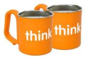 thinkbaby BPA Free Kid's Cup, Orange, 2 pack