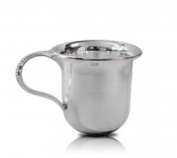 Sterling Silver Clarion Baby Cup Gift with Beaded Handled - Made in Italy