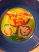 Phineas and Ferb Lenticular Bowl ~ Let Me Think About That