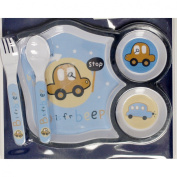 Cudlie Boys 3-Piece ''B Is For Beep'' Feeding Set