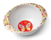 Kid's Deep Dish Bowl. Flutterby Collection. Sugarbooger BPA free melamine dinnerware. ORE Originals.