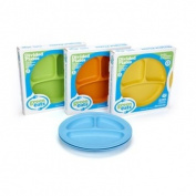Green Toys Green Eats Divided Plates 2 Per Set Colour Varies - Green Toys DPLA-1538