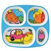 Petit Jour Paris Mr Men & Little Miss Melamine Plate - Four Compartments