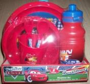 Disney Pixar Cars 6 Piece Mealtime Set/Plate/Bowls/Spoon/Fork /470mlSports Bottle