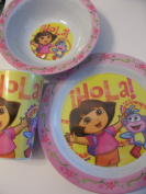 Dora the Explorer Melamine Tablesetting ~ Plate, Bowl, Cup