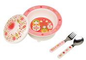 Sugarbooger Covered Suction Bowl Gift Set, Matryoshka Doll
