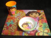 Dora Tableware Set : Placemat, Plastic Cup & Melamine Bowl