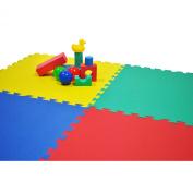 eWonderWorld 61cm X 61cm X~1.4cm Extra Thick Rainbow Play Mats