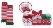 Bearington Bears Baby Holiday Leg Warmers & Lil Elf Socks Set
