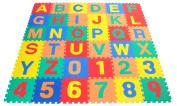 eWonderworld Alphabet & Numbers Interlocking Soft Tiles - Each Mat