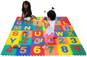 Children Alphabet Letters and Counting Numbers (A-Z, 0-9) Soft Mat - Each Tile
