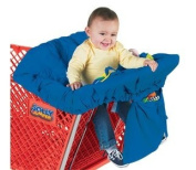 Jolly Jumper Sani-Shopper Shopping Cart Cover With Safety Belt- Fits Most Resturant High Chairs- Blue