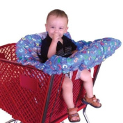 Floppy Seat® Shopping Cart and High Chair Cover, EZ Carry BagTM Style -Blue ABC
