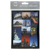 Prinz Travel Photo Album Brag Book Featuring Pictures of the Statue of Liberty, Eiffle Tower, Big Ben, Golden Gate Bridge, the Pyramids