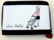 """We're Strollin' "" Zippered Baby Photo Holder"