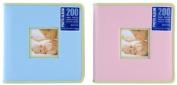 Pinnacle 200 Pocket Baby Photo Album, Pink or Blue