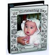 MY CHRISTENING DAY ALBUM, PEWTER FINISH,HOLDS 75 - 10.2cm X15.2cm PHOTOS. - Photo Album