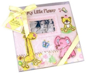 Baby Essentials Large Baby Pink Zoo Animals Baby Photo Album - Holds 200 photos