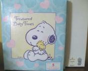 Hallmark Baby Snoopy Treasured Baby Times Refillable Keepsake Album