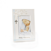Nat and Jules Baby's Christening Frame, Blue