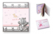 Silver Touch USA Sterling Silver Picture Frame and Booklet, Baby Girl