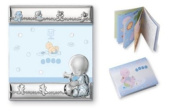 Silver Touch USA Sterling Silver Picture Frame and Booklet, Baby Boy